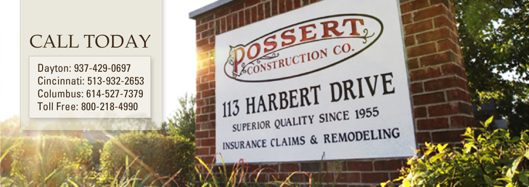 Possert Construction Co Dayton Roofing Repair And