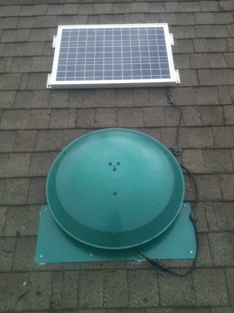 solar powered attic vent