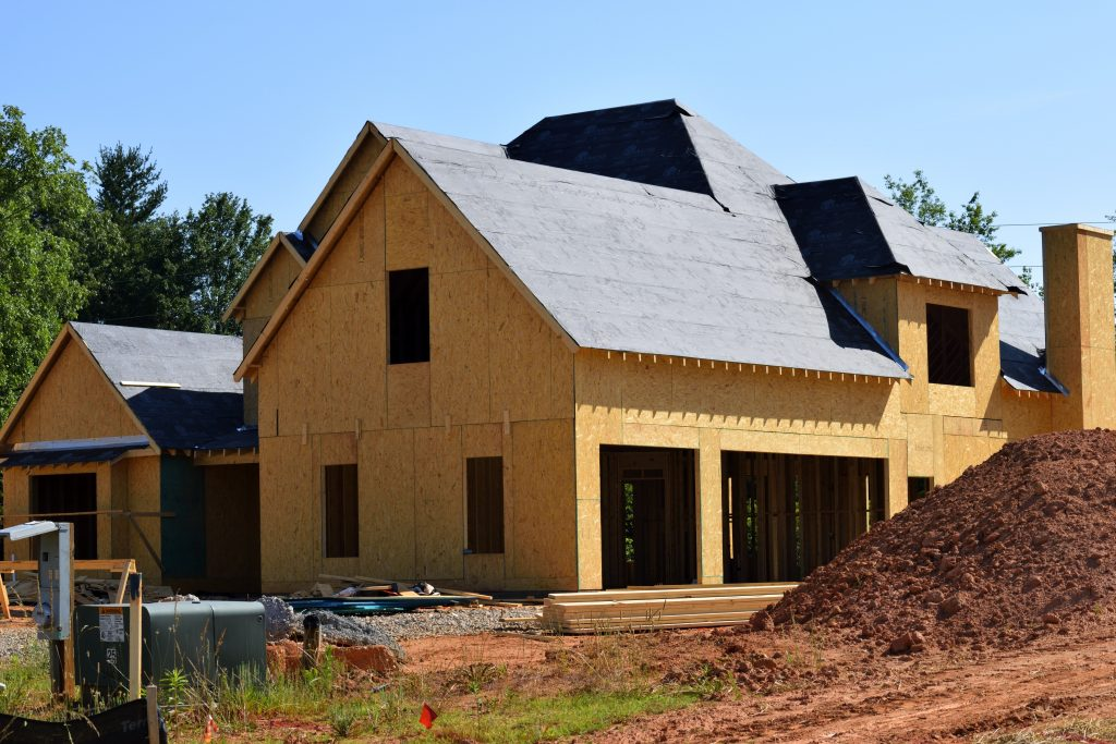 house frame with roof shingles
