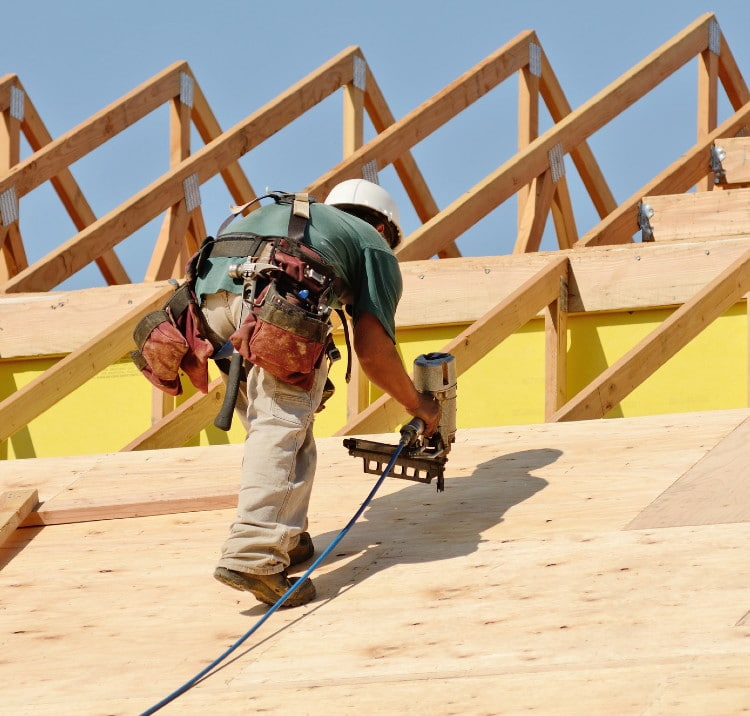 Huber Heights Ohio Roofer with nail gun
