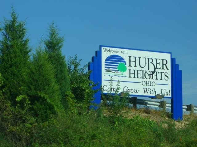 Huber Heights Ohio Welcome Sign